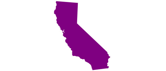 california colored outline