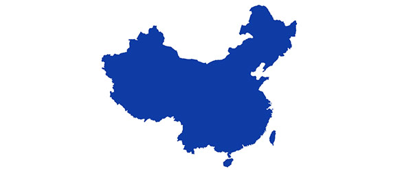 china colored outline