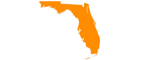 florida colored outline