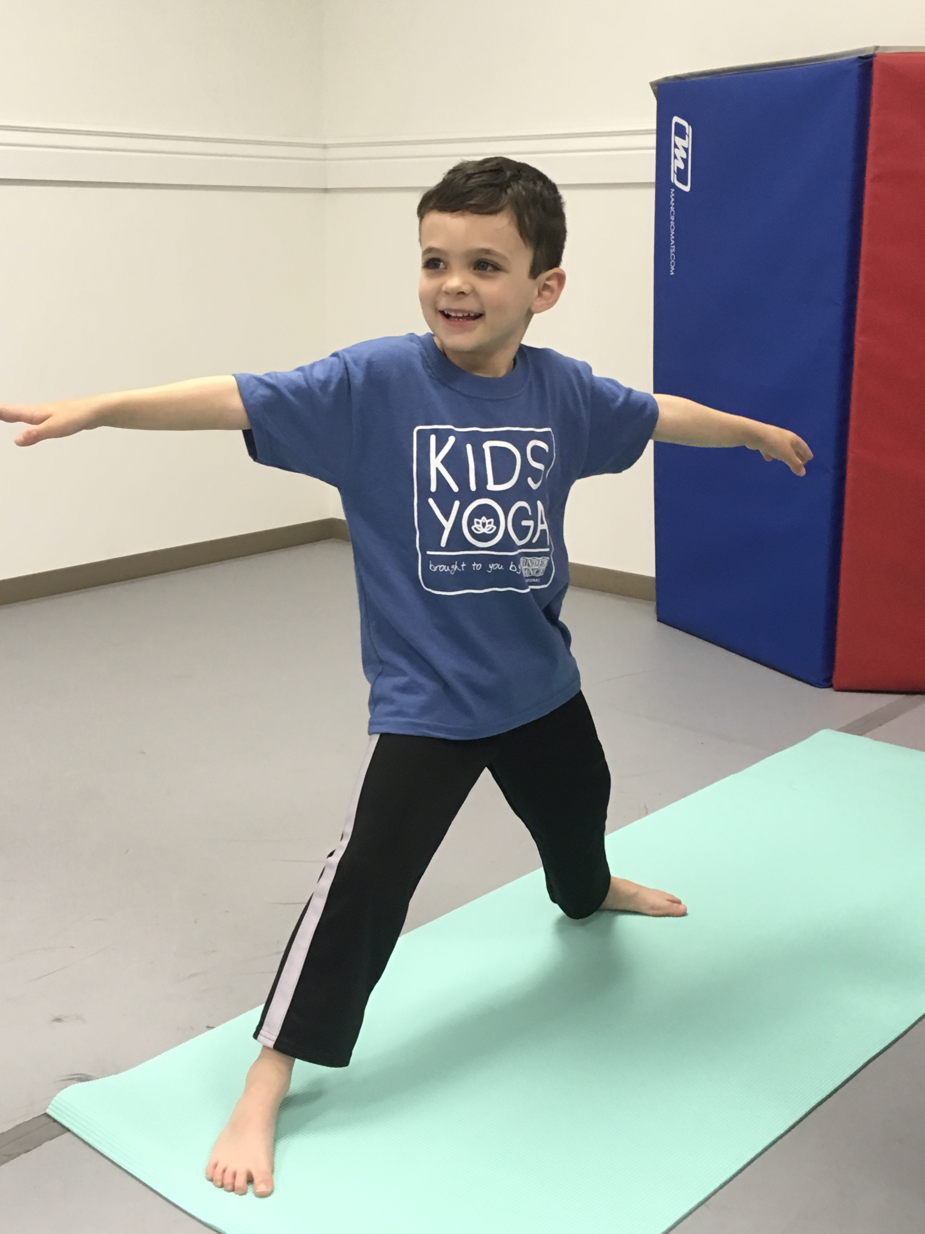 Boy with Kids Yoga Shirt